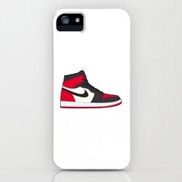 Jordan 1 Bred Toe  iPhone Case
