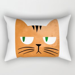 Orange cat with attitude Rectangular Pillow