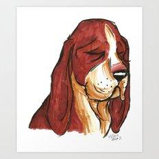 Brush Breeds-Basset Hound Art Print