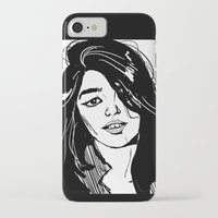 sky ferreira iPhone & iPod Cases featuring Sky Ferreira by Priyanka Menon