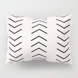 mudcloth pattern white black arrows Pillow Sham