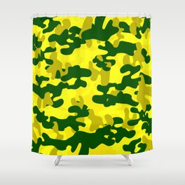 Camouflage (Yellow) Shower Curtain