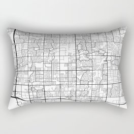 Chandler Map, USA - Black and White Rectangular Pillow