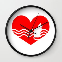 Cute Lovely Cat My Heart Wall Clock