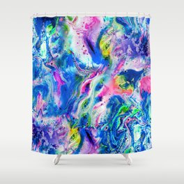 Bathbomb, fluid art, psychedelic art, trippy, psytrance, lsd, acid Shower Curtain