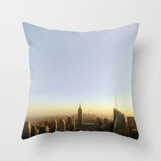 New York Skyline @ Dusk with Empire State Building Throw Pillow