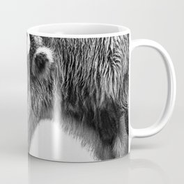 Animal Photography | Bison Portrait | Black and White | Minimalism Coffee Mug