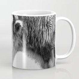Animal Photography | Bison Portrait | Black and White | Minimalism Coffee Mug