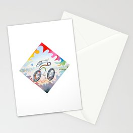 """Bicycle """"1km"""" Stationery Cards"""