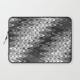 WAVY #2 (Grays & White) Laptop Sleeve