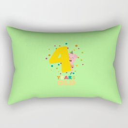 Four Years old fourth Birthday Party Dpkhc Rectangular Pillow