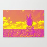 pinapple Canvas Prints featuring Pinapple  by creativenomad