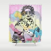 aquarius Shower Curtains featuring Aquarius by Heaven7