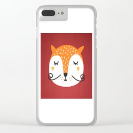 Fox Face Clear iPhone Case