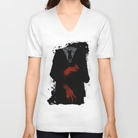 dramatical murder V-neck T-shirts featuring Murder Suit by ODDITY