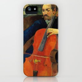 Paul Gauguin - Upaupa Schneklud (The Player Schneklud) (1894) iPhone Case