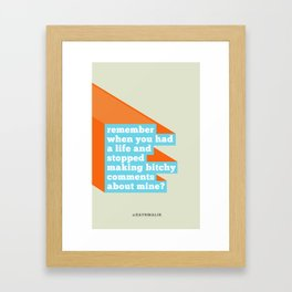 remember when? Framed Art Print