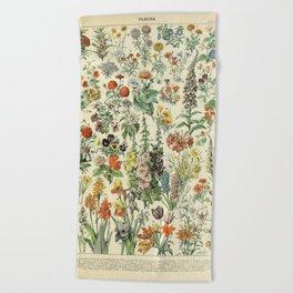 Adolphe Millot Vintage Fleurs Flower 1909 Beach Towel
