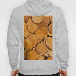 Watercolor Coins, Lincoln Wheat Pennies, 1941 01 Hoody