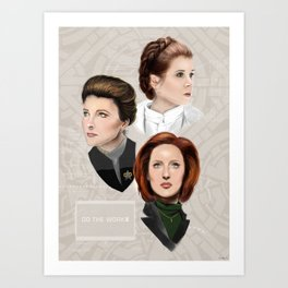 Leia and Janeway and Scully, oh my Art Print