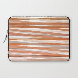 Fall Orange brown Neutral stripes Minimalist Laptop Sleeve
