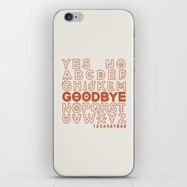 Plastic Bag Ouija Board iPhone Skin