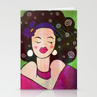 geisha Stationery Cards featuring GEISHA by SAMHAIN