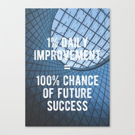 Motivational - 100% Chance of Success Canvas Print