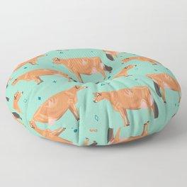 Jerseys - Pale Green // Viridian Floor Pillow