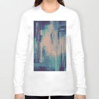 glitch Long Sleeve T-shirts featuring slow glitch by La Señora