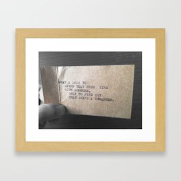 What A Loss Framed Art Print