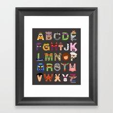 TMNT ABCs Framed Art Print