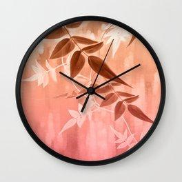 Warm Jasmine Sunrise Wall Clock