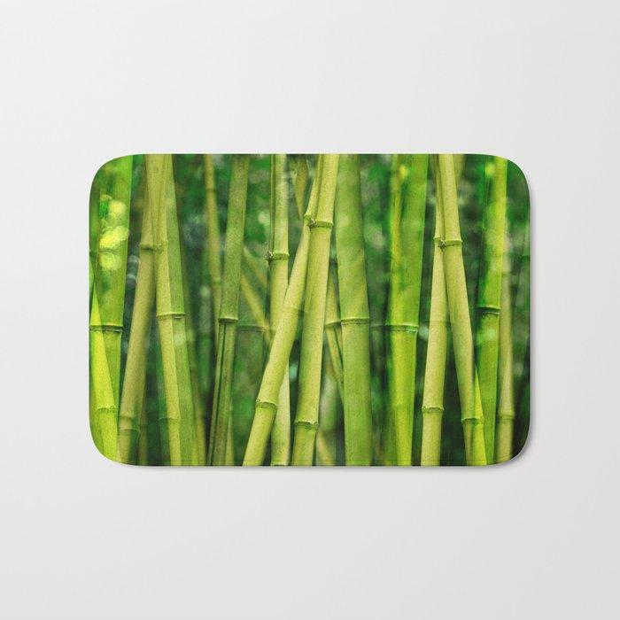Green Bamboo relax zen Bath Mat
