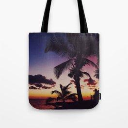 Summer Night Sunset Tote Bag