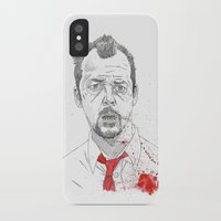 shaun of the dead iPhone & iPod Cases featuring Shaun of the Dead by Andy Christofi