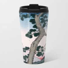 Utagawa Hiroshige Fuji on the Left of Tokaido Road Metal Travel Mug