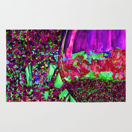 Abstract Wine Glass in Pinks Rug