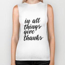 In All Things Give Thanks, Printable Art, Printable Decor, Inspirational Art Biker Tank