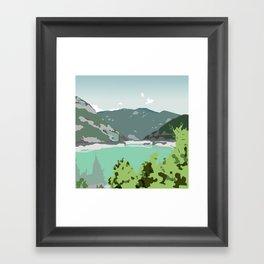 Calm panorama Framed Art Print