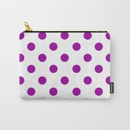 POLKA DOT DESIGN (PURPLE-WHITE) Carry-All Pouch