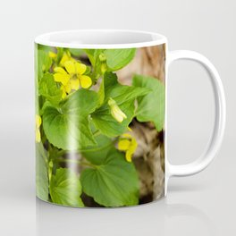 Yellow Violets Coffee Mug