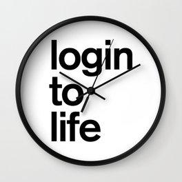 Login To Life Wall Clock