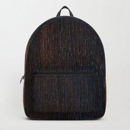 Walnut veneer brown design of wood Backpack