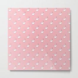 Pink Roosters Metal Print