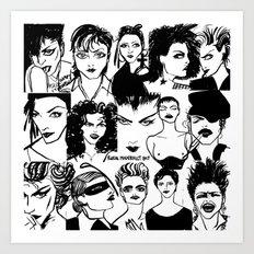 M faces Art Print