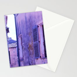 Ancient purple village Stationery Cards