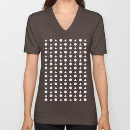 Triangle Square Patterns Unisex V-Neck
