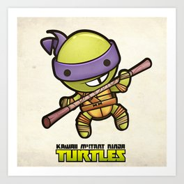 Donatello - Kawaii Mutant Ninja Turtles Art Print