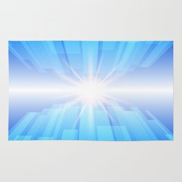 Abstract blue technology background with glow star. Rug